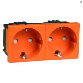 Peha Concept 45 Steckdose SCHUKO 2fach, orange (D 6212.33 EMS SI)