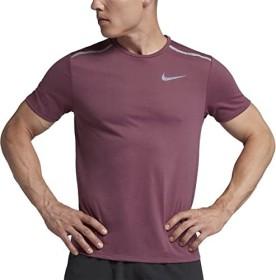 Nike Dri-Fit Rise 365 Laufshirt kurzarm vintage wine/reflective silver (Herren) (892813-623)