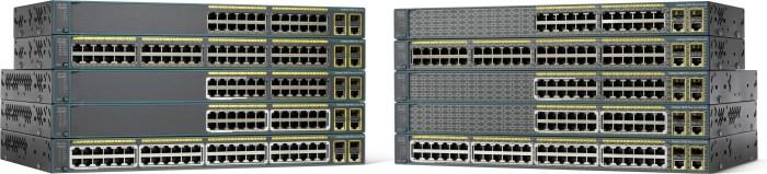 Cisco Catalyst 2960-Plus LAN Lite Rackmount Managed switch, 24x RJ-45, 2x RJ-45/SFP, 370W PoE (WS-C2960+24PC-S)