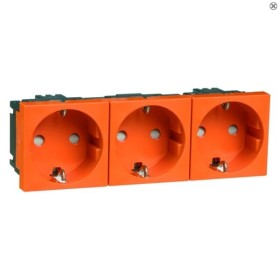 Peha Concept 45 Steckdose SCHUKO 3fach, orange (D 6213.33 EMS SI)