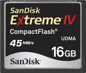 SanDisk CompactFlash Card [CF] Extreme IV 16GB (SDCFX4-016G-902)