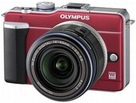Olympus PEN E-PL1 rot mit Objektiv M.Zuiko digital ED 14-150mm