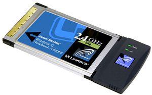 Linksys WPC54G, Cardbus