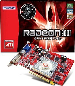 Transcend Radeon 9600 XT, 128MB DDR, DVI, TV-out, AGP (TS128MVDR96X)