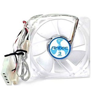 Antec TriCool blue, 80x80x25mm, 1500-2600rpm, 34-58m³/h, 18-30dB(A) (0761345-75020-2)