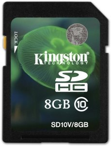 Kingston SDHC   8GB, Class 10 (SD10V/8GB)