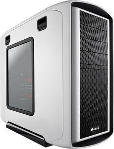 Corsair Special Edition white graphite Series 600T with side panel window, noise-insulated
