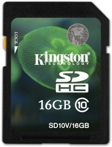 Kingston SDHC 16GB, Class 10 (SD10V/16GB)