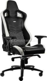 noblechairs Epic Echtleder Gamingstuhl, schwarz/weiß/rot (NBL-RL-EPC-001)