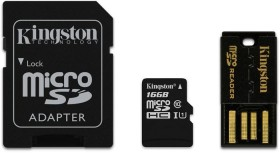Kingston microSDHC 16GB Kit, Class 10 (MBLY10G2/16GB)