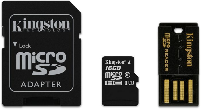 Kingston microSDHC 16GB Mobility-Kit, Class 10 (MBLY10G2/16GB)