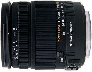 Sigma AF 18-125mm 3.8-5.6 DC OS HSM for Pentax K black (853961)