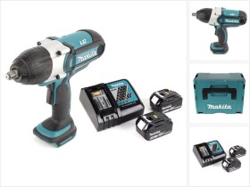 Makita BTW450RFE cordless impact wrench incl. case + 2 Batteries 3.0Ah