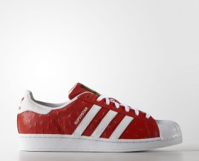 adidas Superstar Animal red/white/gold