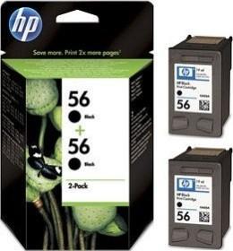 HP Druckkopf mit Tinte 56 schwarz, 2er-Pack (C9502AE)