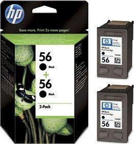 HP 56 Druckkopf mit Tinte schwarz, 2er-Pack (C9502AE)