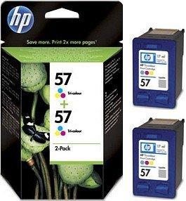 HP 57 Druckkopf mit Tinte farbig, 2er-Pack (C9503AE)