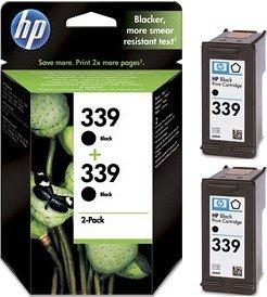 HP 339 Druckkopf mit Tinte schwarz, 2er-Pack (C9504EE)