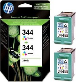 HP Printhead with ink 344 tricolour, 2-pack (C9505EE)