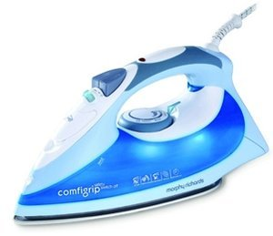 Morphy Richards Glen Dimplex comfigrip blue steam iron (40711)