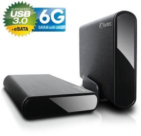 Fantec DB-ALU3e-6G schwarz, USB-B 3.0/eSATA (1693)