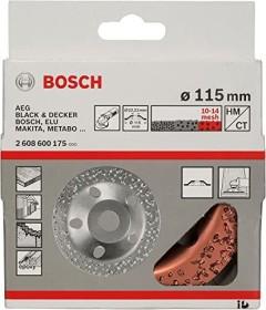 Bosch Professional Wolfram Carbide Topfscheibe flach 115mm grob, 1er-Pack (2608600175)