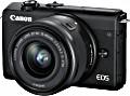 Canon EOS M200 schwarz mit Objektiv EF-M 15-45mm 3.5-6.3 IS STM (3699C010)