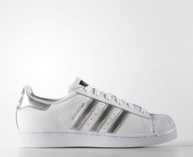 adidas Superstar white/silver metallic/core black (Damen) (AQ3091)