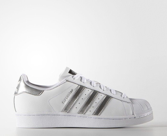 best service d06f7 17ace adidas Superstar white silver metallic core black (Damen) (AQ3091)
