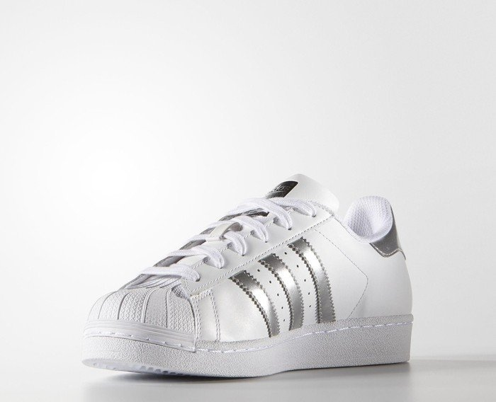 adidas superstar weiß silber metallic