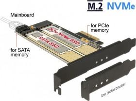 DeLOCK PCI Express Card > 2 x internal M.2 NVMe/SATA (89630)