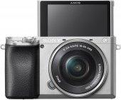 Sony Alpha 6100 silber mit Objektiv AF E 16-50mm 3.5-5.6 OSS PZ (ILCE-6100LS)