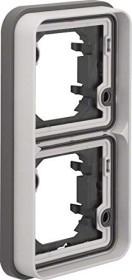 Berker W.1 frame 2 x vertical, light grey matte (13293515)