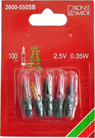 Weihnachtsbeleuchtung Bunt.Konstsmide Ersatzbirne Für Weihnachtsbeleuchtung Bunt 2 25v 0 37w 5er Pack 2600 550sb