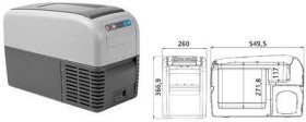 Dometic CoolFreeze CDF-16 compressor-cooling box