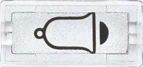 Merten System M Symbole rechteckig Klingel, glasklar (395869)