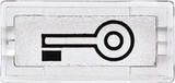 Merten System M Symbole rechteckig Schlüssel, glasklar (395769)