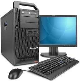 Lenovo Thinkstation D20, Xeon DP E5620, 8GB RAM, 1000GB, Windows 7 Professional, UK (SNFK7UK)