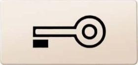 Merten System M Symbole rechteckig Schlüssel, weiß (395700)