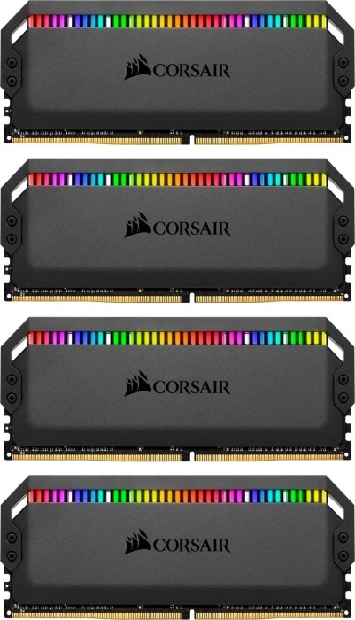 Corsair Dominator Platinum RGB DIMM kit 32GB, DDR4-3000, CL15-17-17-35 (CMT32GX4M4C3000C15)