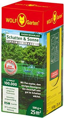 Wolf Garten Premium-Rasen Schatten /& Sonne LP 25 3820020