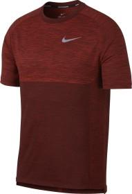 Nike Dri-FIT Medalist Laufshirt kurzarm deep burgundy/habanero red (Herren) (891426-641)