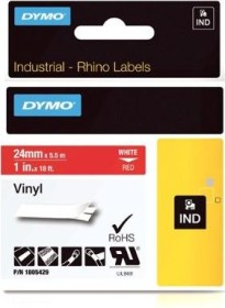 Dymo ID1 Industrial Rhino Pro labelling tape 24mm, white/red (1805429)