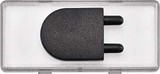 Merten System M Großes Schriftfeld mit tastbaren Kontrast-Symbol Steckdose, glasklar (434794)