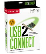 Adaptec AUA-2000LP USB2Connect, 2x USB 2.0, PCI