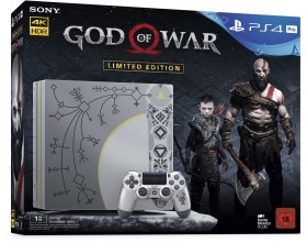 Sony PlayStation 4 Pro - 1TB God of War Limited Edition Bundle silber