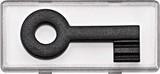 Merten System M Großes Schriftfeld mit tastbaren Kontrast-Symbol Schlüssel, glasklar (434792)