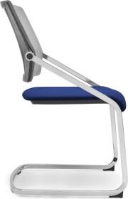 Viasit Scope Freischwinger Netzrücken Konferenzstuhl, blau-schwarz (SC-FS300.5)