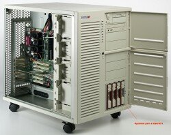 Supermicro SC830, Server Tower, redundantes Kühlungssystem, 2x 300W