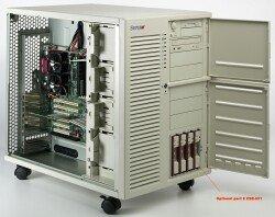 Supermicro SC830, Server Tower, redundant Kühlungssystem, 2x 300W